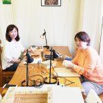 今日はマクラメ編み教室☆