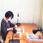 マクラメ編み教室 フレーム包み編み