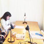 昨日はマクラメ編み教室でした