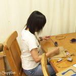 マクラメ編み教室上級編 炎のペンダントトップ