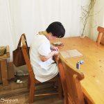 臨時マクラメ編み教室 水晶ポイント包み編み